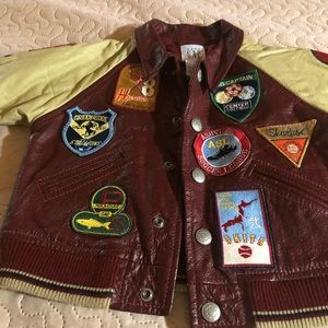 Real leather gap baby jacket